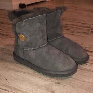 Ugg kids grey Bailey Button boots Size 6